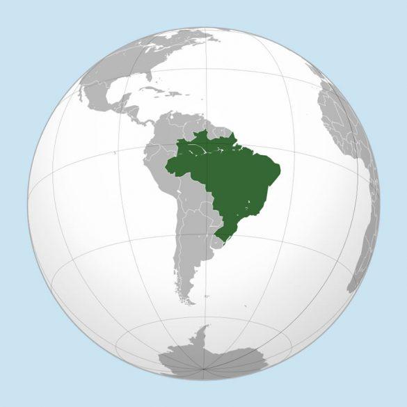 Il Brasile (immagine tratta da Wikipedia e realizzata da Ssolbergj)